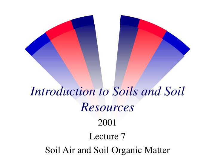 introduction to soils and soil resources n.