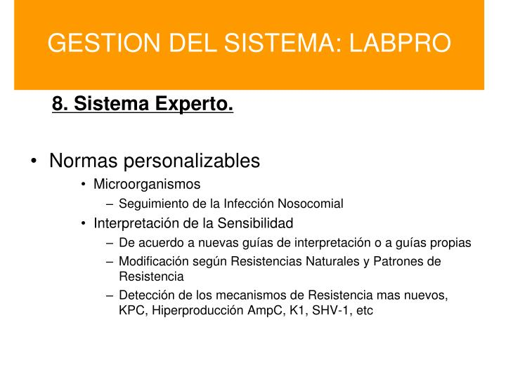 GESTION DEL SISTEMA: LABPRO