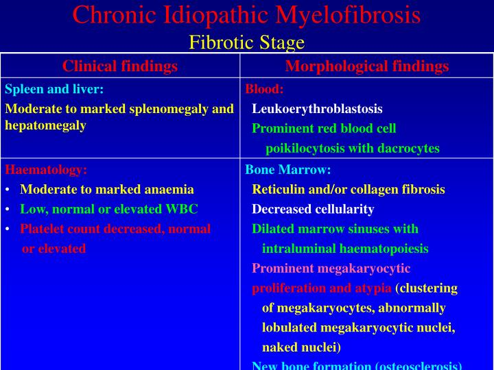 Chronic Idiopathic Myelofibrosis