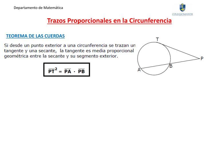 Trazos proporcionales en la circunferencia1