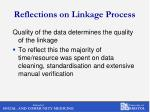 reflections on linkage process