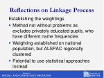 reflections on linkage process1