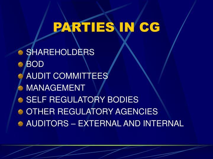 PARTIES IN CG