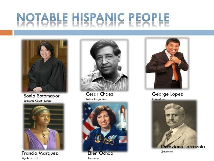 Notable Hispanic people