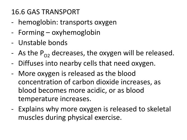 16.6 GAS TRANSPORT