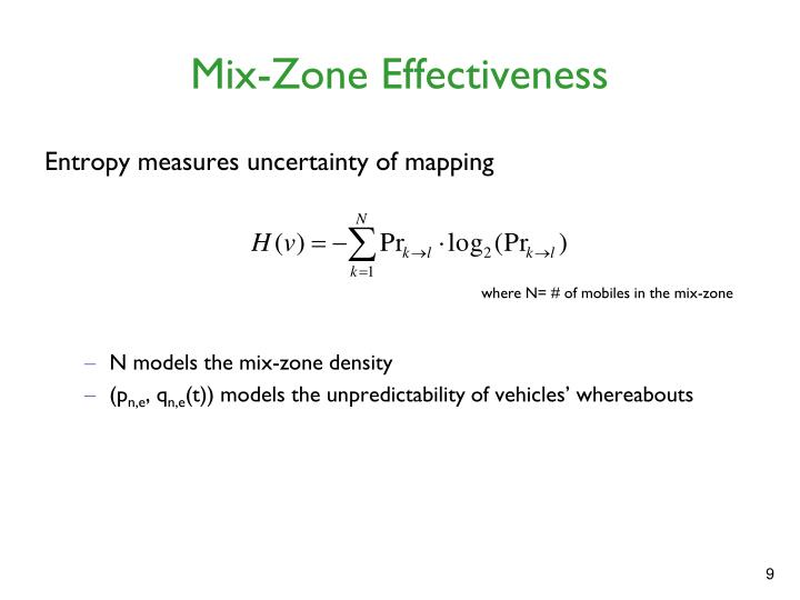 Mix-Zone Effectiveness