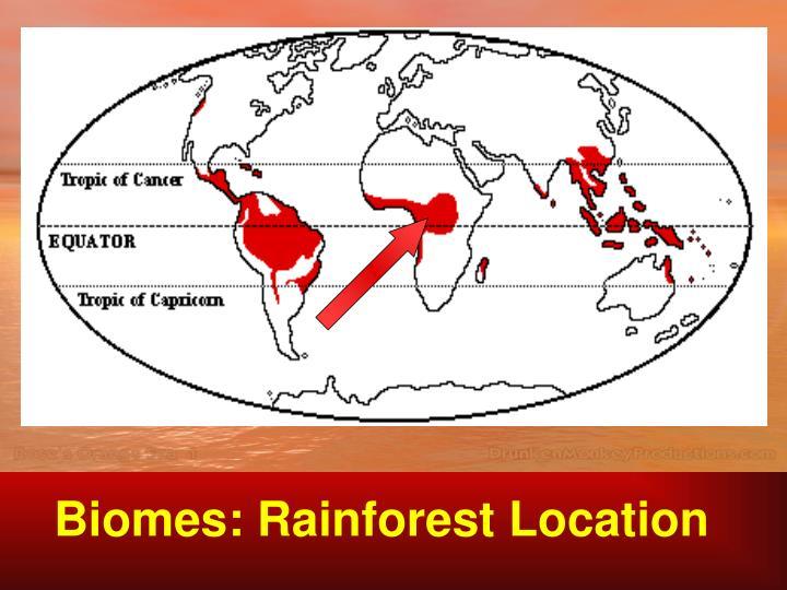 Biomes: Rainforest Location