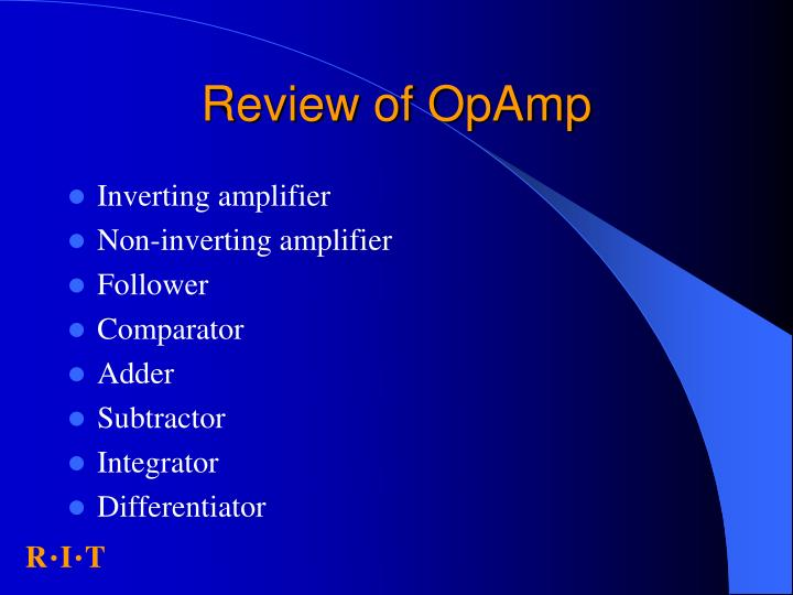 Review of OpAmp