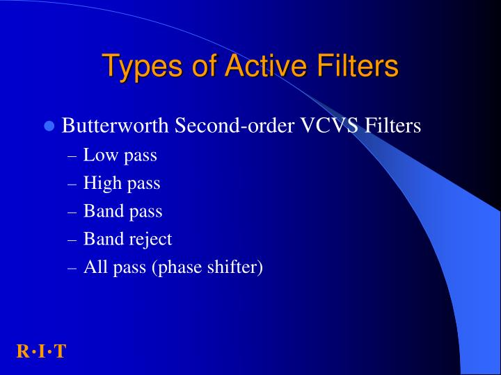 Types of Active Filters