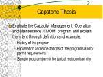 capstone thesis