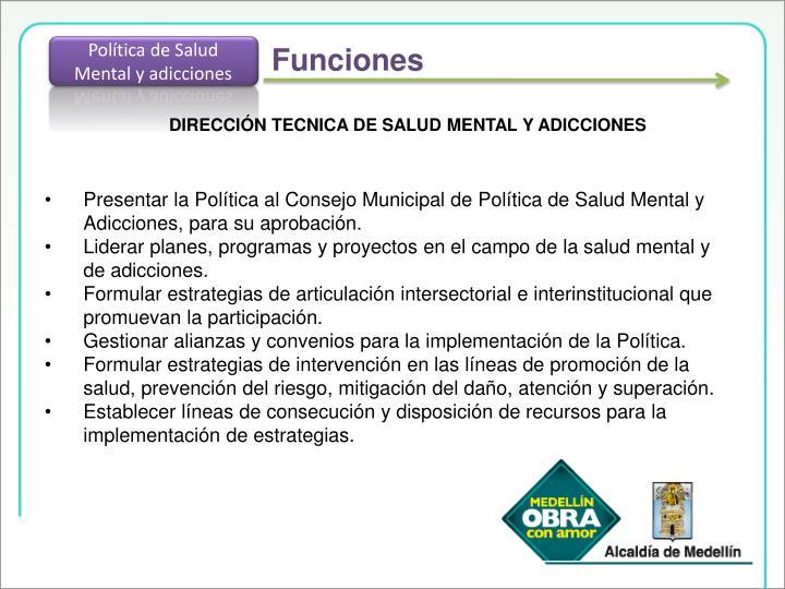 Política de Salud Mental y adicciones
