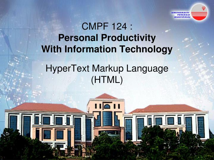 cmpf 124 personal productivity with information technology n.