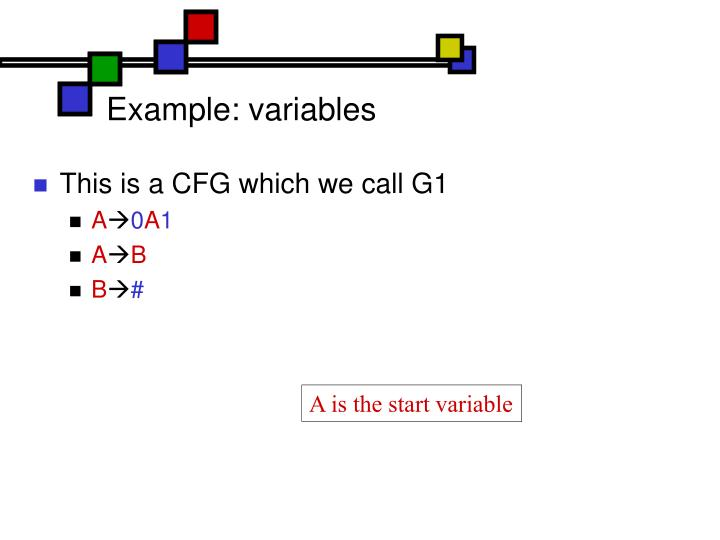 Example: variables