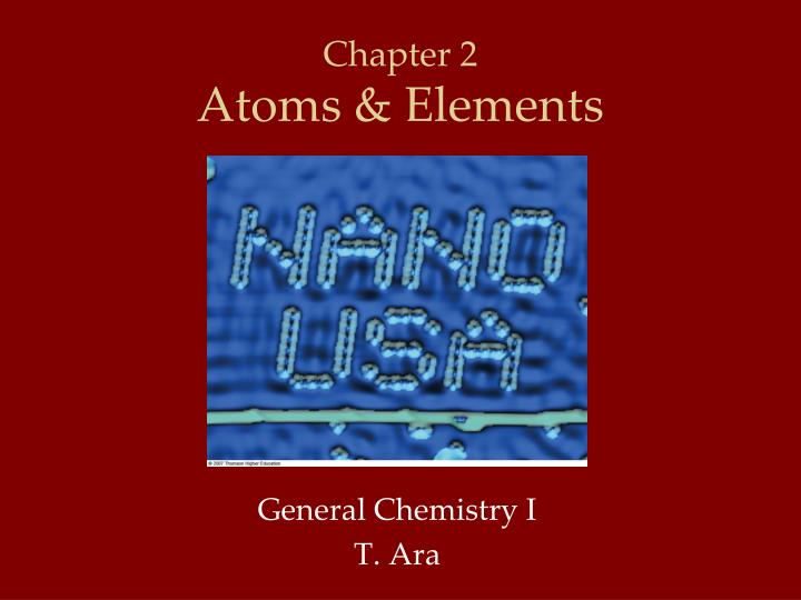 chapter 2 atoms elements n.