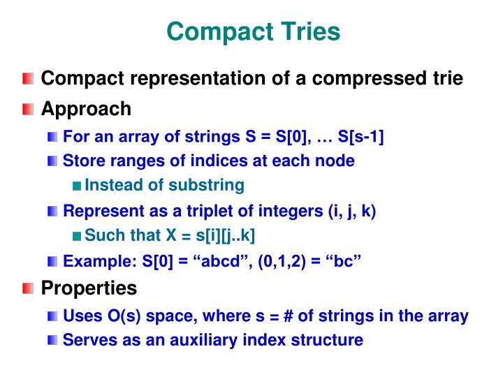Compact Tries