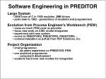 software engineering in preditor