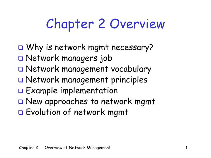 PPT - Chapter 2 Overview PowerPoint Presentation - ID:3991590