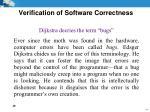 verification of software correctness4