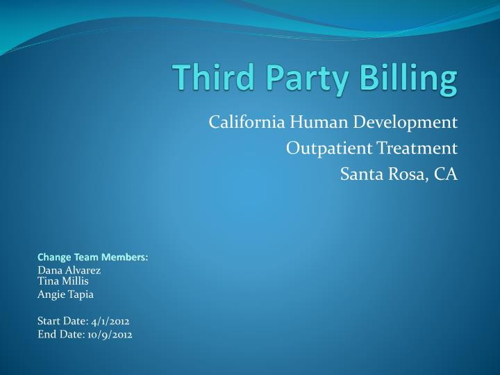 Third party billing