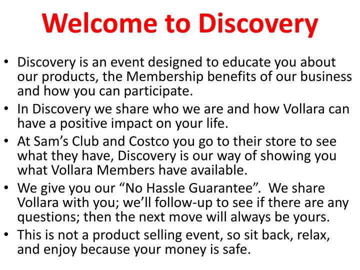 welcome to discovery n.