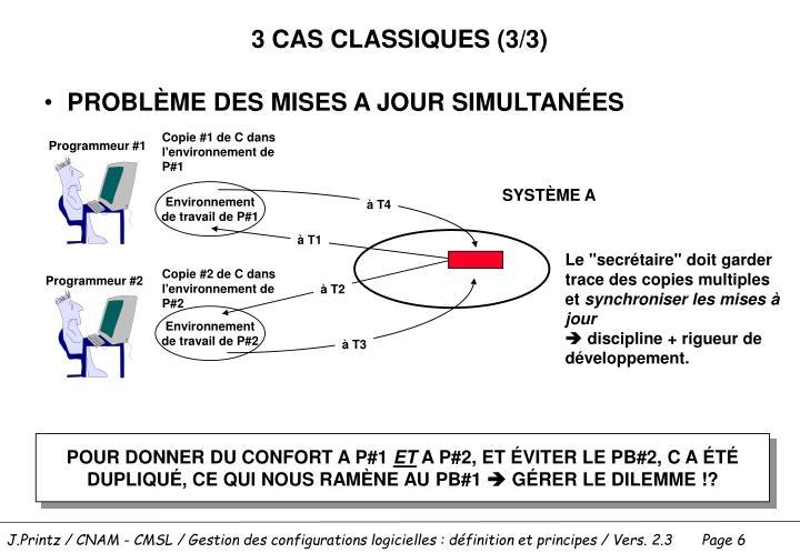 3 CAS CLASSIQUES (3/3)