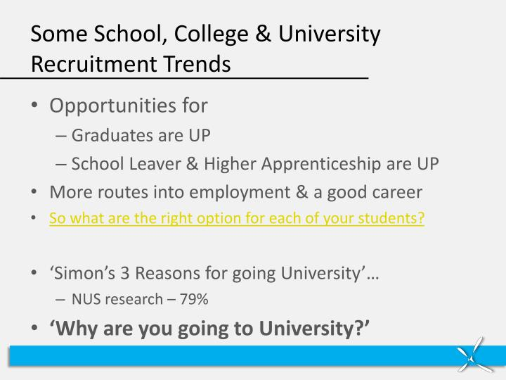 Some School, College & University Recruitment Trends