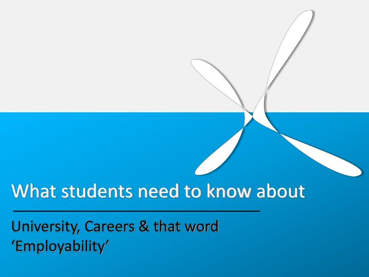 What students need to know about