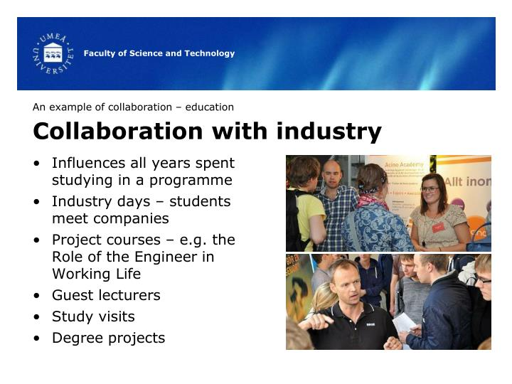 An example of collaboration – education