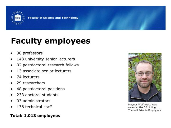 Faculty employees
