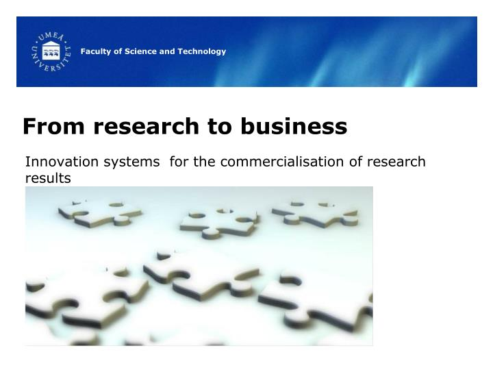 From research to business