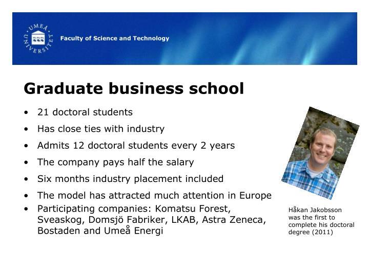 Graduate business school