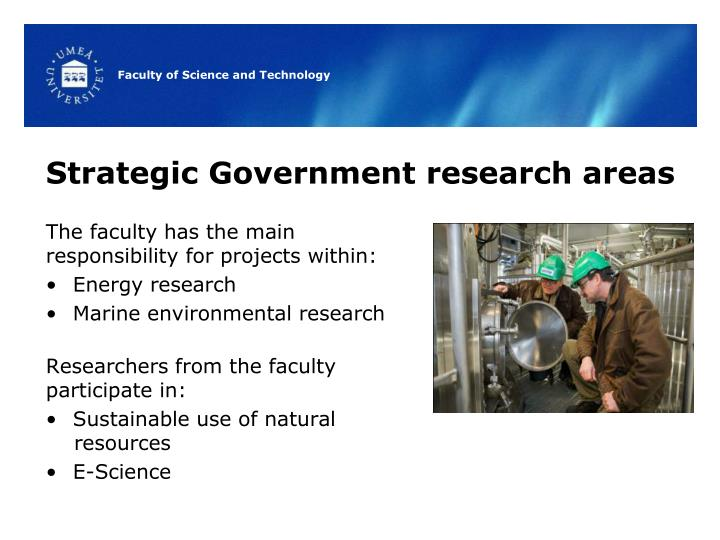 Strategic Government research areas