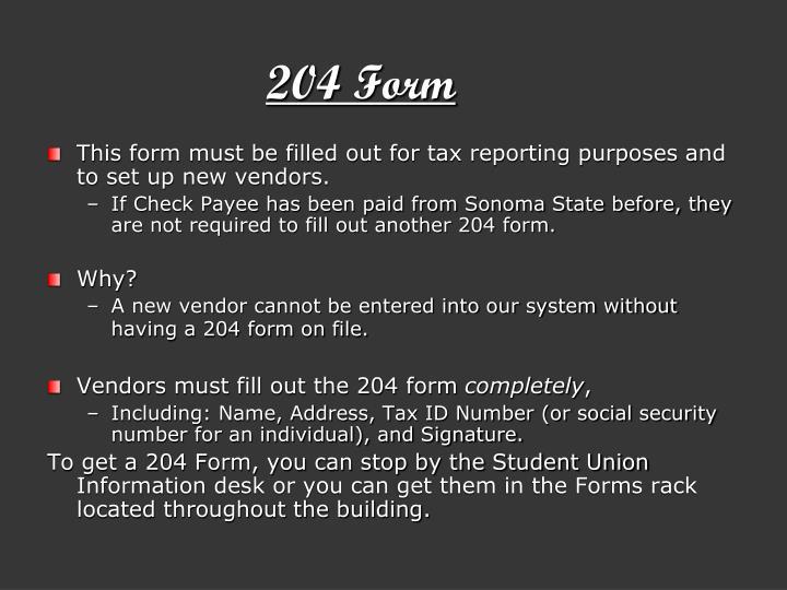 204 form