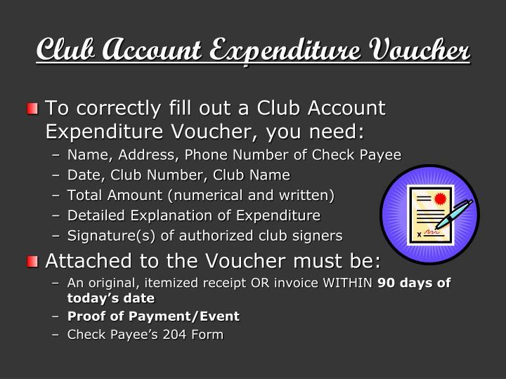 Club account expenditure voucher1