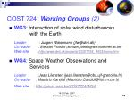 cost 724 working groups 2