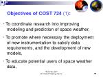 objectives of cost 724 1