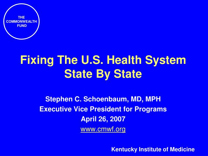Fixing the u s health system state by state
