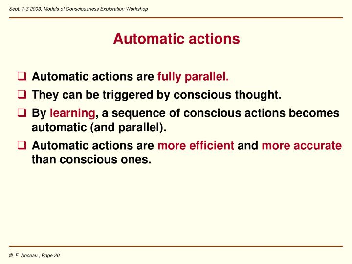 Automatic actions