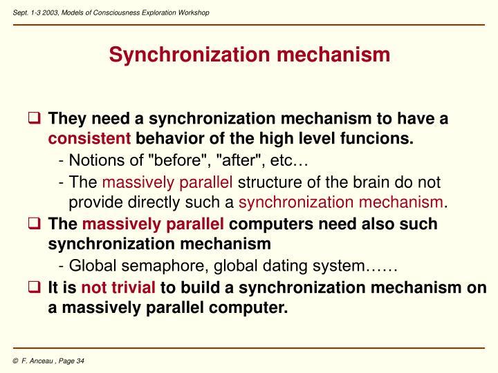 Synchronization mechanism