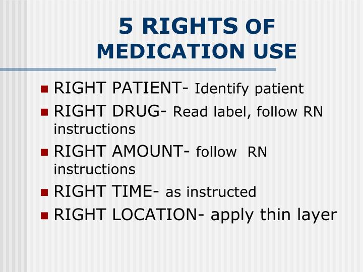 five rights of drug use