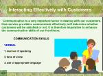interacting effectively with customers