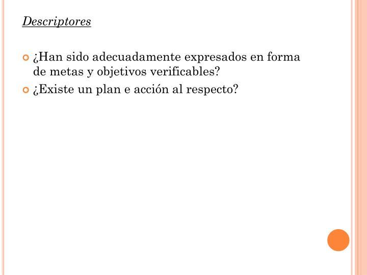 Descriptores