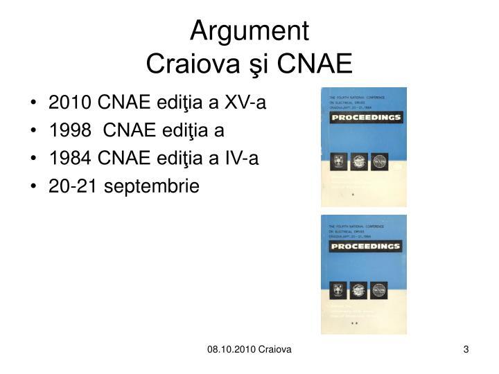 Argument craiova i cnae