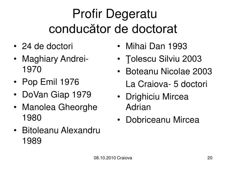 24 de doctori