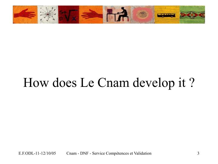 How does le cnam develop it