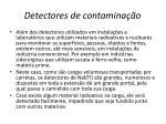 detectores de contamina o