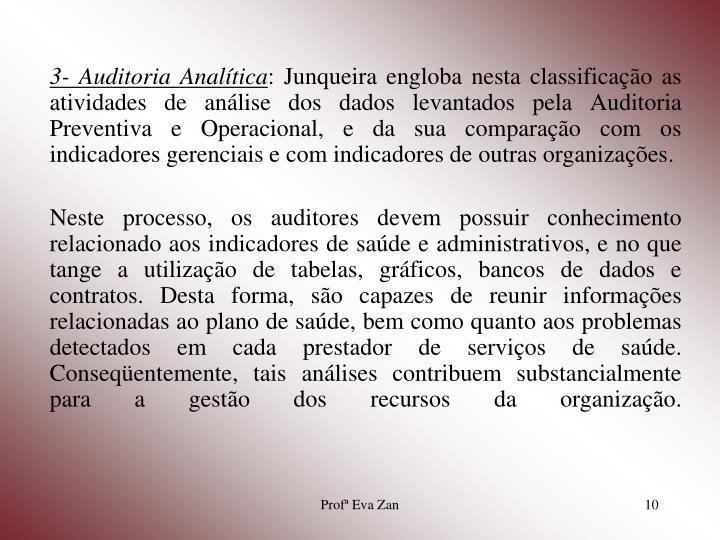 3- Auditoria Analítica
