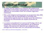 l application prodige