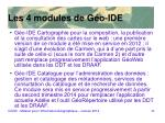 les 4 modules de g o ide