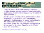 un mouvement international pour l open data